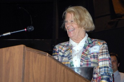 Nancy Abell accepts Governor's Cup