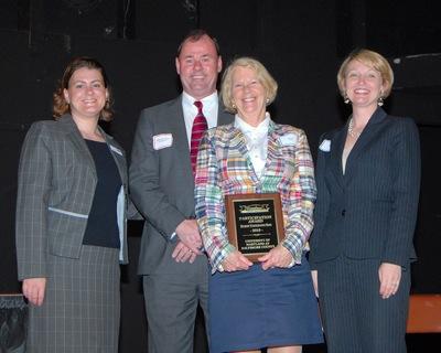 Nancy Abell accepts UMBC's participation award